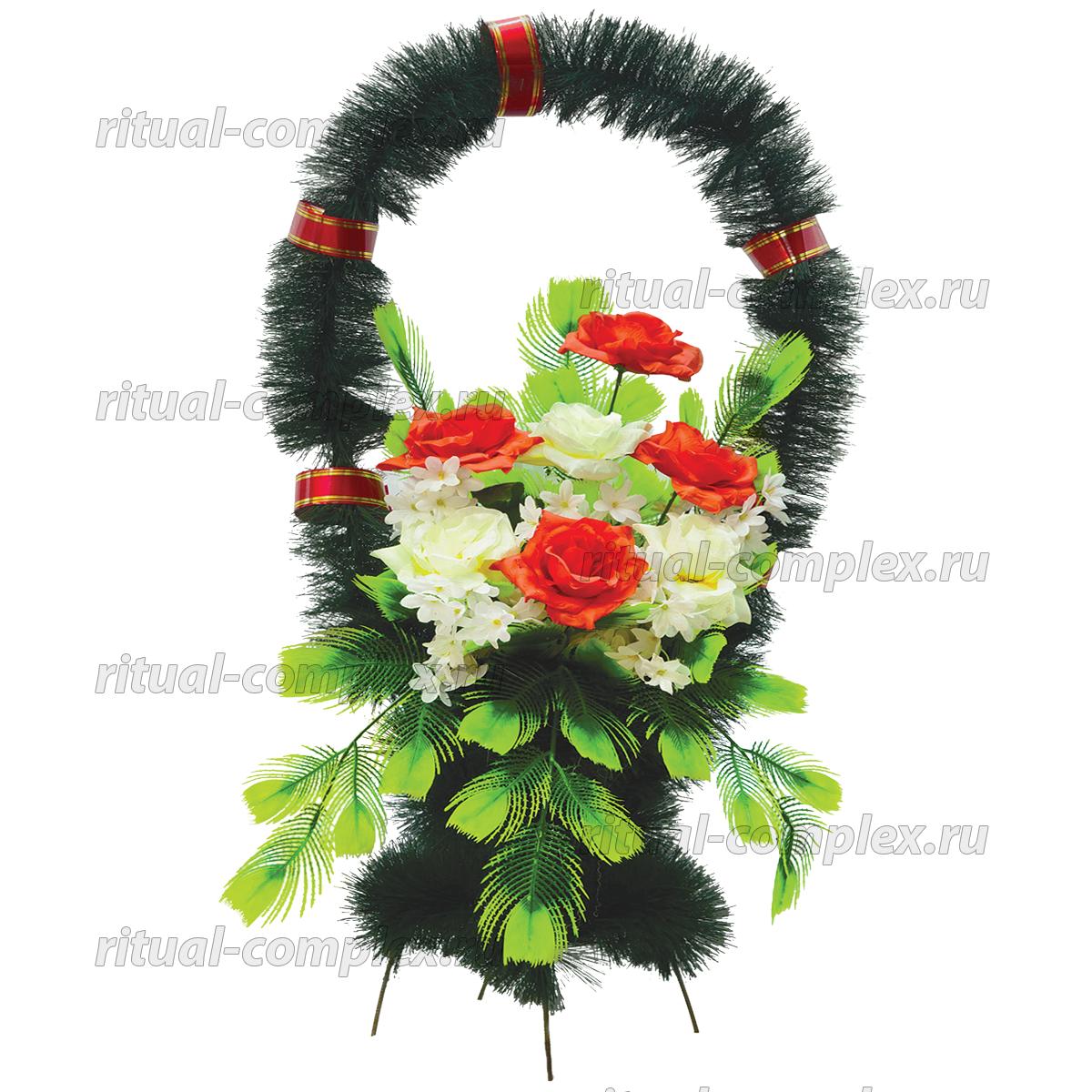 Корзина из искусственных цветов №11