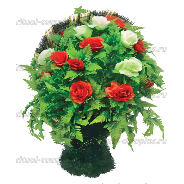 Корзина из искусственных цветов №2