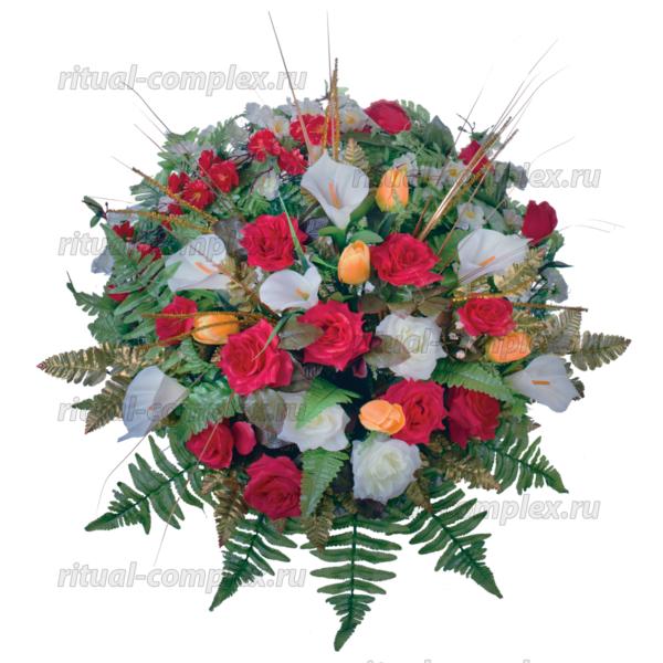 Корзина из искусственных цветов №6