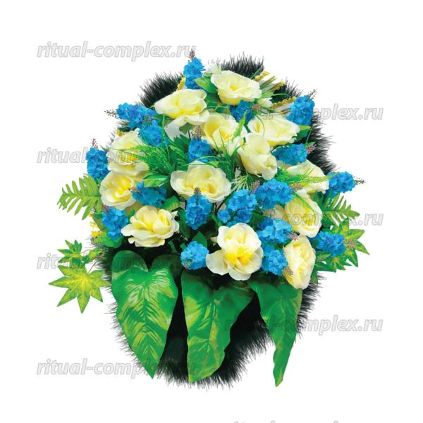 Корзина из искусственных цветов №7