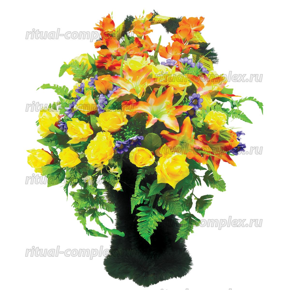 Корзина из искусственных цветов №8