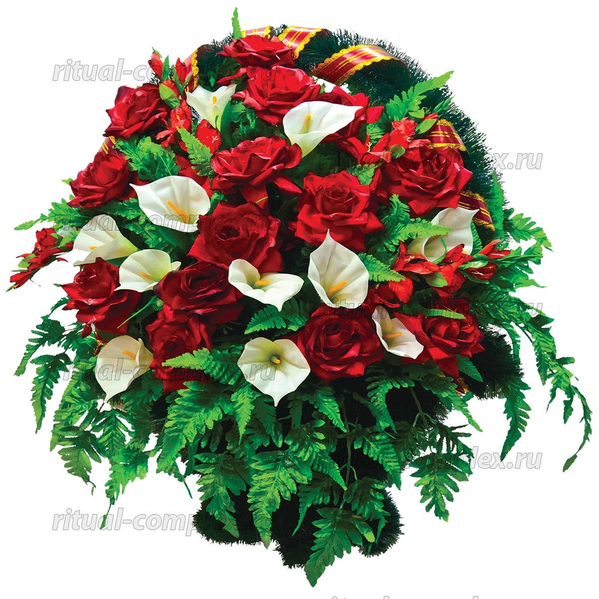 Корзина из искусственных цветов №9
