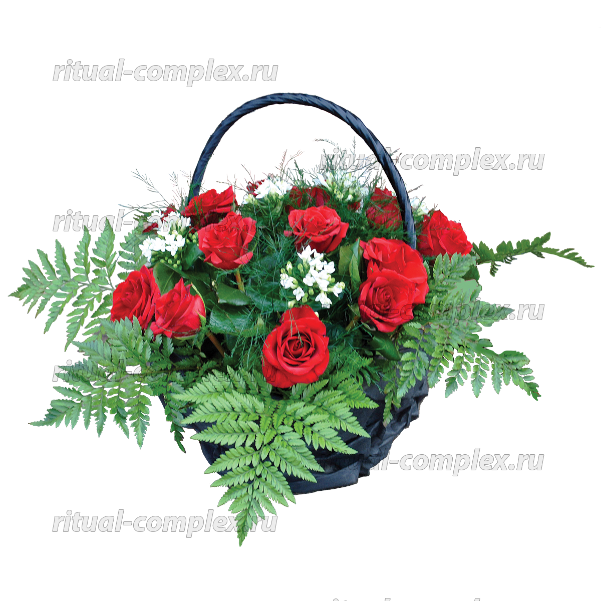 корзина из живых цветов №1