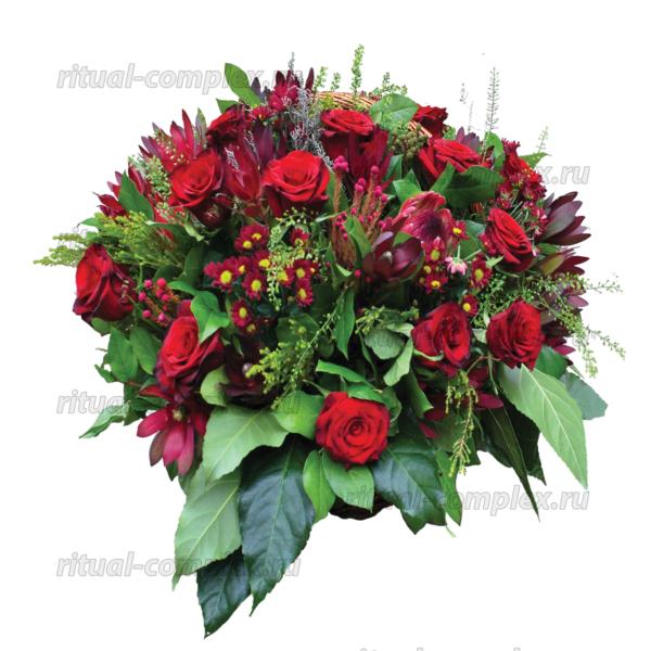 корзина из живых цветов №3