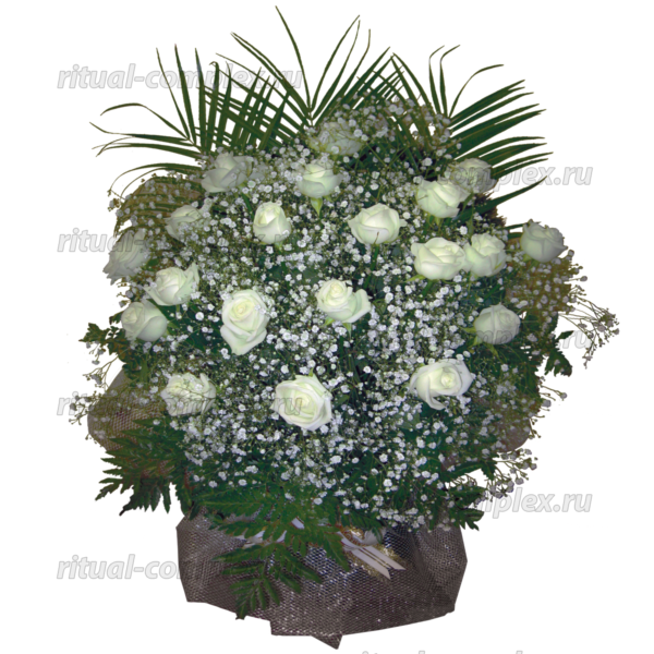 корзина из живых цветов №4