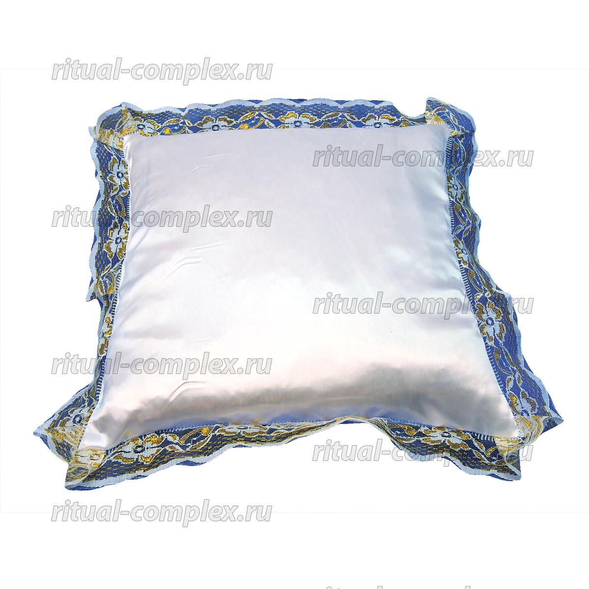 подушка в гроб с кружевом