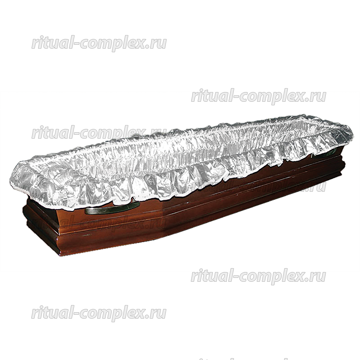 Постель атлас гофре стеганная с кружевом