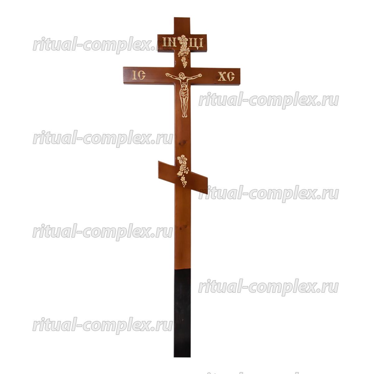 Деревянный крест резной